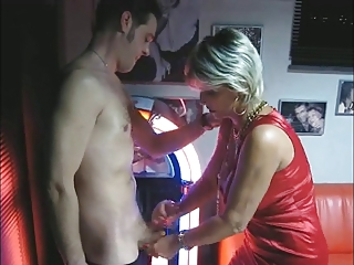 aged makes handjob and oral pleasure at the