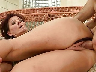 hawt granny enjoys hard sex with her lover