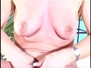 aged bitch rubs on her bra buddies and