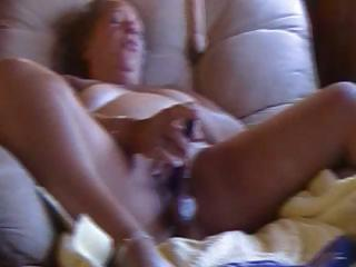 large chubby aged uses a marital-device and