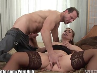 whiteghetto bulky milf creampied