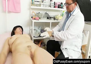 older cunny examined by the gynecologist