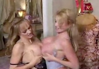 3 busty golden-haired lesbo mammas