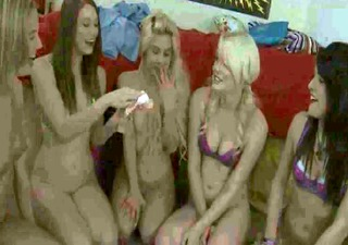 horny college beauties riding on real shlong