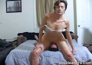 youthful guy is hungry over an oldie mistresse