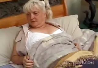 aged blondie acquires full body massaged
