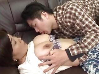 drunk japanese mother gets abase by her boy