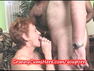 granny sucks dong at the swingers party