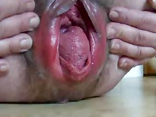 bizarre gaping granny bawdy cleft