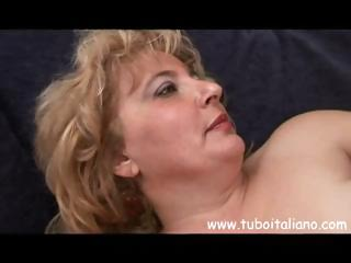 overweight older italian blonde granny acquires