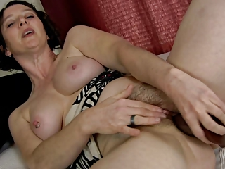 pervert shaggy milf and her marital-device