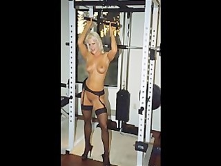 picture movie scene fbb blonde muscle bodybuilder