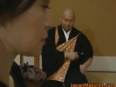 japanese mature lady is in for trio hot part1