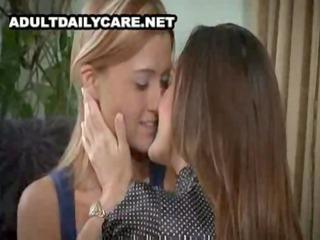 beautiful mature lesbo seduces youthful cutie -