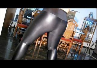 fat in shiny leggings &; hose