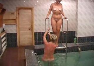 russian harlots screwed in sauna
