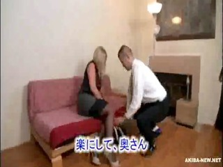 beautiful older blond wife forced by japanese