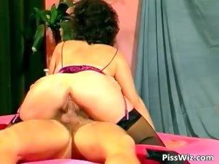 horny older dark brown acquires unshaved wet