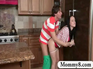 mother i stepmom catches legal age teenager pair