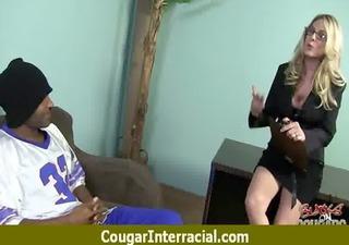 cougar pounce on black shlong 1