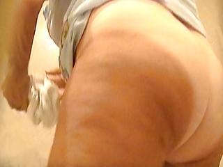 voyeur granny mature unshaved pussy white panty