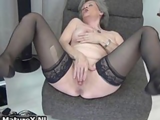 sexy granny in dark stockings t live without part6