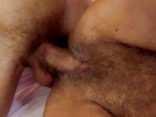 lusty granny receives her curly bawdy cleft