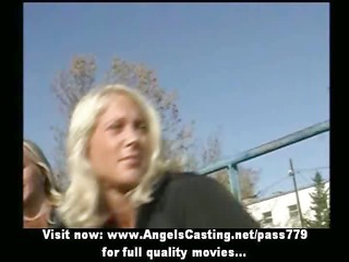 amazingly sexy blond lesbos undressing and