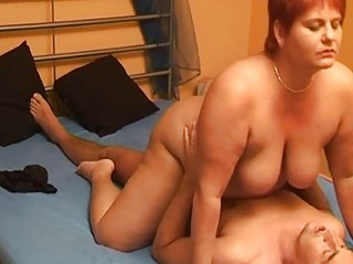 bulky dilettante wife sucks and copulates with