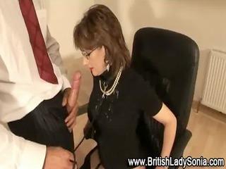 mature brit lady sonia spunk flow