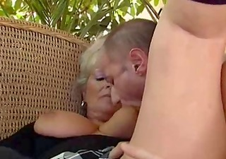 blonde granny boned by a dude