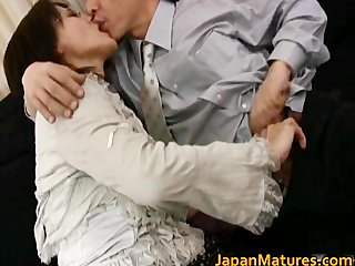 aged real asian woman getting part0