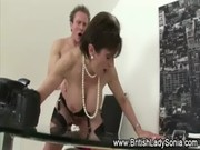 aged stocking brit sonia suck and oral sex