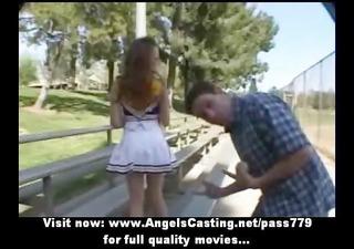 stunning redhead cheerleader legal age teenager