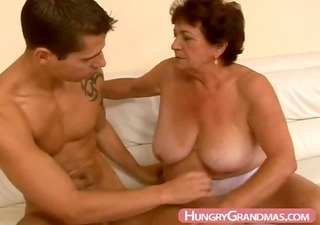 bulky granny blow job